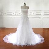 Reale Probe des abnehmbaren Fußleisten-Braut-Kleides