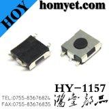 Interruptor redondo del tacto del botón rojo con 6.2*6.2*2.6m m 4pin SMD