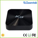 Casella astuta K9 dell'alloggiamento di plastica più poco costosa S905 di Zoomtak di memoria TV del quadrato