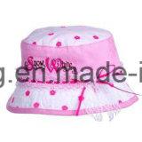 流行の子供のバケツの帽子か帽子のフロッピー帽子
