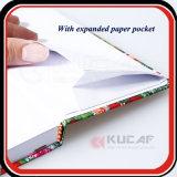 Cuaderno metálico del tamaño del papel A5 de la impresión ULTRAVIOLETA de encargo