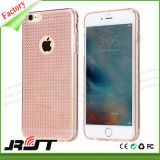 Caixa de cristal do telefone da grão TPU do diamante do Glitter para o iPhone 6s