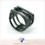 925 de Zilveren Zilveren Ring van de Ring van de Vrouwen van de Mannen van het Zirkoon van de Ring Serling (R10297)