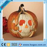 Abóbora creativa de Halloween da resina dos ofícios do OEM para a decoração do feriado