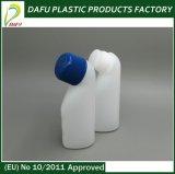 Бутылка формы PE 40ml пластичная специальная с голубой крышкой