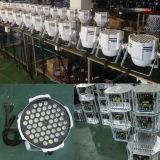 白いDMX LyはDJのディスコライト54PCS 3W RGBW LED同価を上演する
