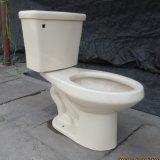 알몬드 색깔 늘어나는 2 조각 화장실