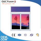 Finestra di scivolamento di alluminio di vetro commerciale della finestra di scivolamento doppia