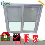 Persianas plásticas modernas de la puerta de la ventana de desplazamiento de la casa UPVC/PVC dentro del vidrio