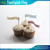 Drapeaux décoratifs colorés de Toothpick de gâteau de mariage (M-NF29F14034)