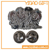 Silbernes Überzug-Metallabzeichen mit Qualität (YB-p-004)