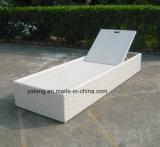 Singolo Lounger del Chaise della base di Sun della nuova di disegno dell'hotel mobilia esterna del rattan (YTF552-1)
