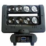 Luz principal movente do estágio do efeito do feixe da aranha do diodo emissor de luz 8 PCS