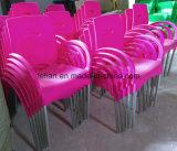 Olored stapelnder Plastikstuhl, Plastikim freienarm-Stuhl (LL-0050)