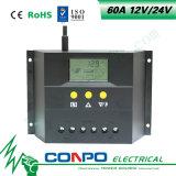 60A、12V/24VのLCDのスマートな太陽コントローラ