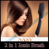 2 in 1 ptc Heating Ceramic Hair Straightener Iron Brush