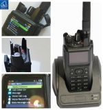 GPS, der P25/Dmr/Analog portables Radio, portables Radio 37-50MHz in analogem und Digital abbildet