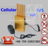 Jammer dourado portátil de WiFi GPS do jammer do sinal do telemóvel 3G