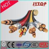 0.6/1 3+1 do núcleo XLPE quilovolts de cabo da isolação, cabo de cobre da potência da bainha de PVC/PE