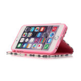 iPhoneのためのStandの革PU Case Mobile Phone Flip Cover