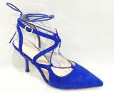 Heiße Verkaufs-Form-Veloursleder-Absatz-Sandelholz-Frauen-Schuhe