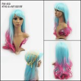 Beautiful Dye Color Synthetic Halloween Wigs