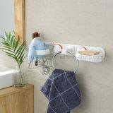 石鹸入れの棚が付いているシリコーンによって結合される浴室のリング状タオル掛け