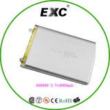 Мешок батареи Lipol блока батарей Exc 606090 3.7V 8000mAh перезаряжаемые