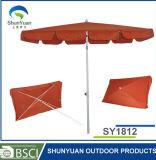 160g polyester UV50+ met Hoed 1.8m*1.2m van de Paraplu van het Type van Piramide de Paraplu van het Strand (SY1812)
