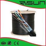 Câble protégé de twisted pair reconnu par ETL/CE/RoHS/ISO (ftp), Cat5e, 4 paires, solide, Lszh
