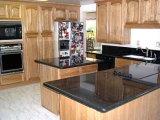 La vanité noire de granit de la Chine complète des dessus de bureau de cuisine
