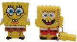 Mecanismo impulsor del flash del USB de Spongebob de la historieta del disco del USB de la estrella de Patrick