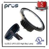 Luz de la bahía del UFO 100W LED de UL/Dlc 90-305V alta