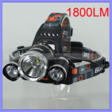 CREE Xml T6 3 DEL Headlamp Fishing Flashlight Cap Headlight (1117) de 15W USB Charging 1800lm