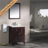 Fed-1960 de quartzo elegante da madeira contínua de 36 polegadas mobília moderna superior do banheiro