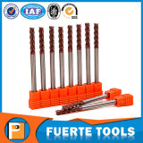 Tipo longo extra cortador do moinho de extremidade do quadrado para ferramentas de trituração