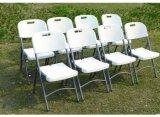 Chaise de jardin en plastique pliante de métal en plein air (XYM-T100)