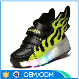 2016 sapatas coloridas do diodo emissor de luz dos miúdos da forma, sapatas Running da simulação