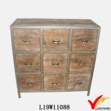Vintage rústico mobília de madeira antiga Mão-Cinzelada
