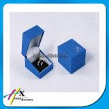 Blaue Plastikpapierschmucksache-hängender Paket-Samt-Kasten mit Firmenzeichen-Drucken