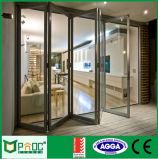 Moderner Entwurfs-Aluminium, das Bifold Tür mit 10 Jahren Garantie-schiebt