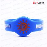 Bracelets faits sur commande de silicones d'IDENTIFICATION RF d'impression de prix usine