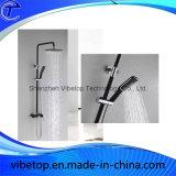 ステンレス鋼の正方形の降雨量ヘッドシャワーの手持ち型セット
