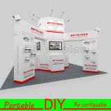 Портативная многоразовая алюминиевая будочка выставки индикации торговой выставки 2016