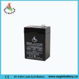 batterie d'acide de plomb rechargeable de 6V 4.5ah Mf pour le système d'alarme