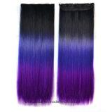 Heiße Verkaufs-Farben-Steigung-lang gerade synthetische Perücke-Haar-Extensionen