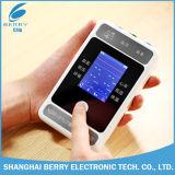 China Palm Patient Monitor (PM6100) ECG (Electrocardiograph), u (harttarief), NIBP (niet-invasieve bloeddruk), SpO2, PR (polsslag), TEMP (lichaamstemperatuur).