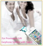 Подгонянный цвет логоса рекламируя подарок для стойки телефона Splitter наушника (ID381)