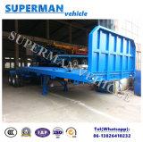 Flatbed Aanhangwagen van de Vrachtwagen van de Trekbalk van de Lading van 2 As Volledige Semi Dolly Aanhangwagen