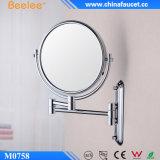 '' specchio cosmetico fissato al muro rotondo del bicromato di potassio d'ottone 8